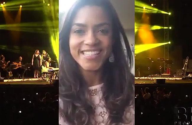 Lucy Alves faz convite para seu show na Festa da Luz 2014