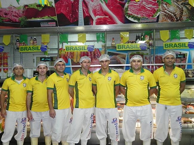 Master Carnes na torcida pela Seleção Brasileira