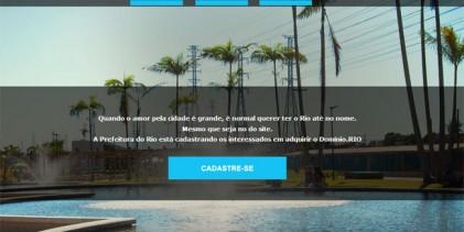 Prefeito do Rio lança domínio de internet com o nome da cidade