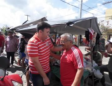 Raniery visita Pirpirituba mais uma vez e recebe apoio de feirantes da cidade