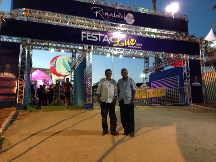 Zenóbio e Ronaldinho no parque do poeta