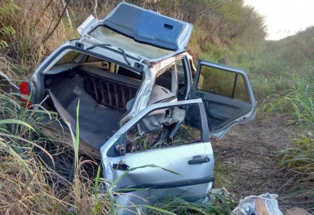 Motorista perde controle de carro e sofre acidente entre Sertãozinho e Pirpirituba