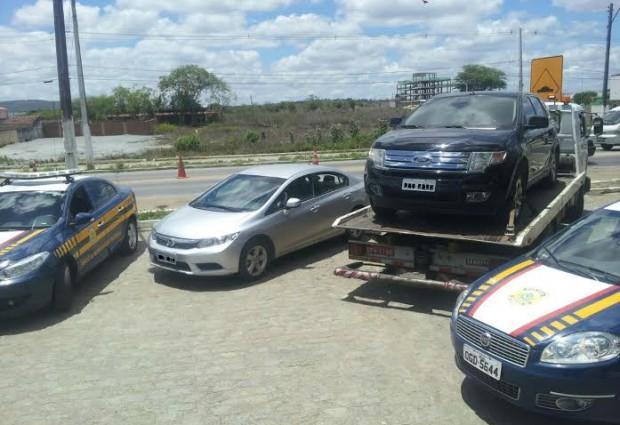 Veículos roubados: PRF recupera quatro em apenas uma tarde na PB