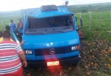 Caminhão carregado de abacaxi tomba próximo a Araçagi e oito ficam feridos