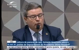 Parecer de Anastasia favorável a impeachment de Dilma deve ser votado na sexta