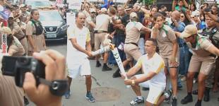 Revezamento da Tocha Olímpica é realizado em Guarabira, vejas as fotos!