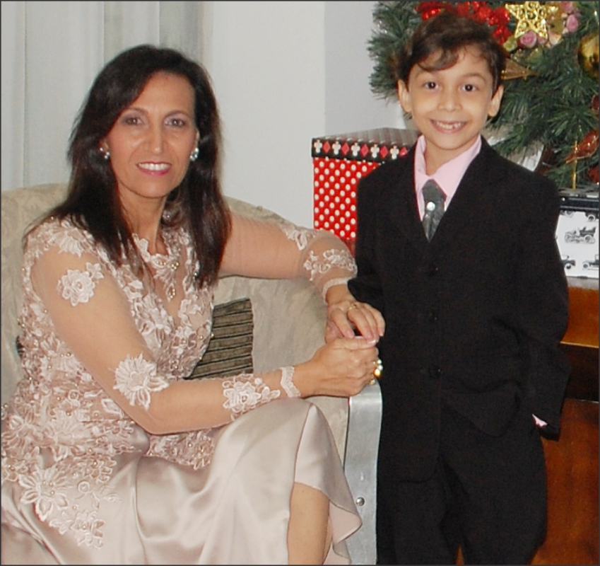 Gueibi e seu filho Gregory