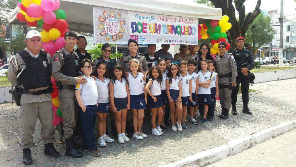 Escolas e comércio aderem à Operação Criança Feliz do 4º BPM_2